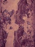 Enge oude roestige metaaltextuur als achtergrond Donkere gekraste mysticus Stock Afbeeldingen