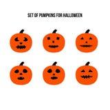 Enge pompoenen voor Halloween Royalty-vrije Stock Afbeeldingen
