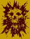 Enge schedelabstractie van puin en punten Vector illustratie vector illustratie