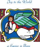 Engel 3 van de kerstkaart vector illustratie