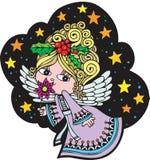Engel 3 van Kerstmis royalty-vrije illustratie