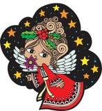 Engel 6 van Kerstmis Stock Afbeeldingen