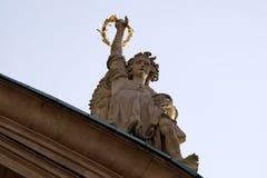 Engel auf dem Portal von Kirche St. Catherine und von Mausoleum von Ferdinand II, Graz, Österreich stockbilder