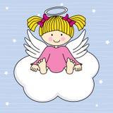 Engel auf einer Wolke Stockbild