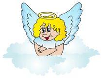 Engel auf Wolke Stockfoto