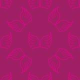 Engel beflügelt nahtloses lila rosa Muster Lizenzfreie Stockfotografie