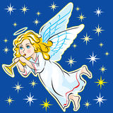 ENGEL IN DE HEMEL Stock Afbeelding
