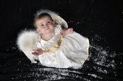 Engel in de sneeuw Stock Fotografie