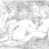 Engel of de Tekening van de Cherubijn Royalty-vrije Stock Afbeelding