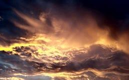 Engel in de wolken stock afbeelding