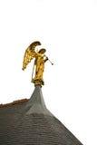 Engel, der die Trompete spielt Stockfotos
