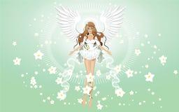Engel der Frühlingstapete stockfotografie