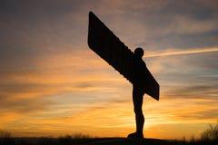 Engel des Nordens - Sonnenuntergang Stockbilder