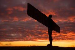 Engel des Nordens - Sonnenuntergang Stockfoto
