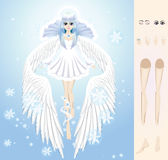 Engel des Winters stockbilder