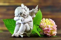 Engel en bloem Royalty-vrije Stock Foto's