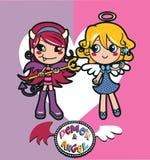 Engel en Demon vector illustratie