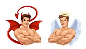 Engel en duivel Stock Foto's