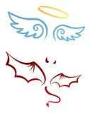 Engel en duivel Stock Afbeelding