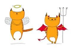 Engel en duivel stock illustratie
