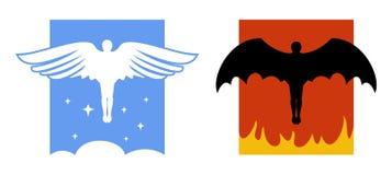 Engel en Duivelspictogrammen stock illustratie