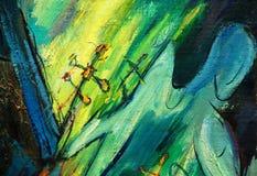 Engel en dwars, het schilderen, illustratie royalty-vrije illustratie