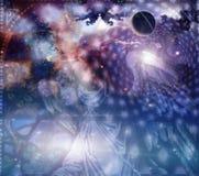 Engel en hemelse samenstelling vector illustratie