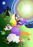 Engel en Herders royalty-vrije illustratie