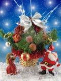 Engel en Kerstman Royalty-vrije Stock Afbeeldingen