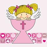 Engel in heilige grail royalty-vrije illustratie
