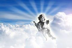 Engel in hemel Stock Foto's