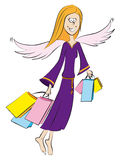 Engel, het winkelen Stock Afbeelding