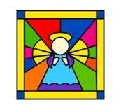 Engel im Buntglas Stockfoto
