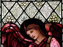 Engel im Buntglas Stockbild