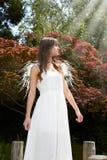 Engel im Garten Stockbild