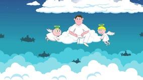 Engel im Himmel und verschieden stock video footage
