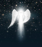 Engel im nächtlichen Himmel Lizenzfreies Stockbild