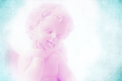 Engel im Pastellhintergrund Stockfotografie