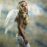 Engel im Studio Stockbild