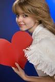 Engel im Valentinstag. Lizenzfreie Stockfotos