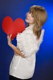 Engel im Valentinstag. Stockbild