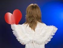 Engel im Valentinstag. Lizenzfreies Stockfoto