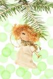 Engel, Kerstboomdecoratie, en gloed van licht royalty-vrije stock afbeelding