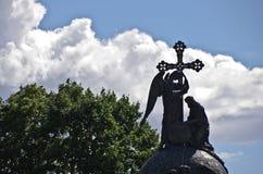Engel, Kruis en Koning royalty-vrije stock foto