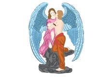 Engel in liefde Stock Afbeeldingen