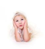 Engel met blauwe ogen Stock Afbeelding