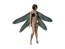 Engel met Blauwe Vleugels Royalty-vrije Stock Afbeelding