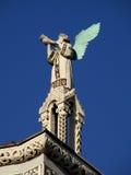 Engel met een hoorn Stock Afbeelding