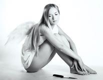 Engel met een mes Royalty-vrije Stock Foto