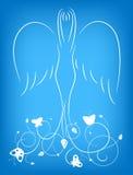 Engel met een ornament stock illustratie